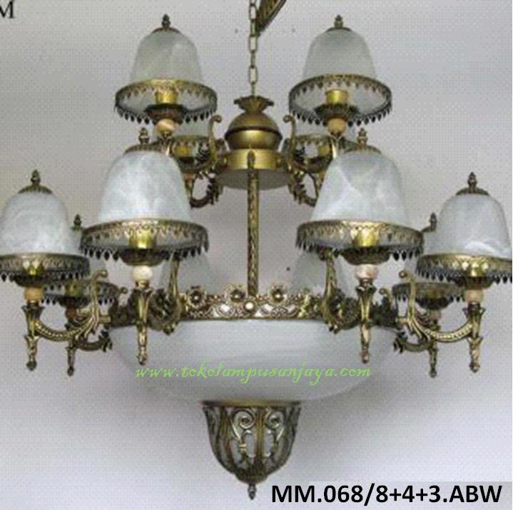 Lampu Gantung Kaca Tipe MM.068-8+4+3