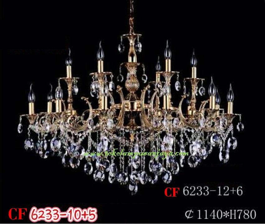 Lampu Gantung Kristal Tipe CF 6233-12+6