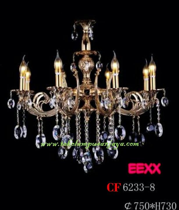 Lampu Gantung Kristal Tipe CF 6233-8