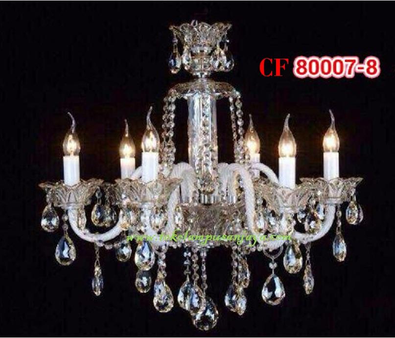 Lampu Gantung Kristal Tipe Cf 80007 8 Daftar Harga Lampu