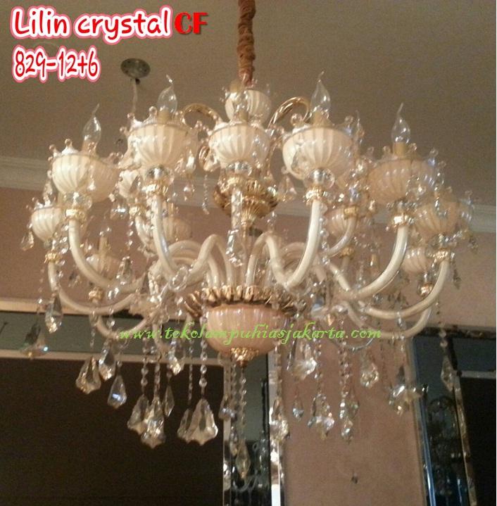 Lampu Lilin Cristal CF 829-12+6