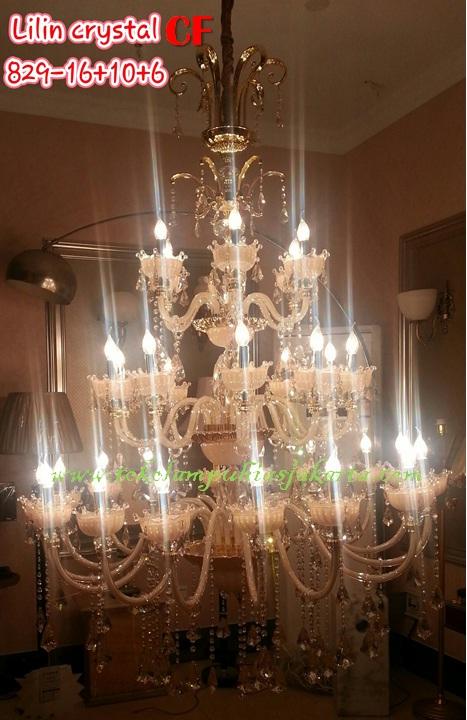 Lampu Lilin Cristal CF 829-16+10+6