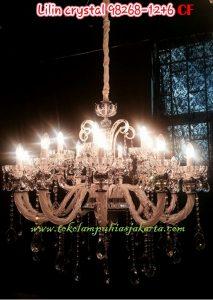 Lampu Lilin Cristal CF 98268-12+6