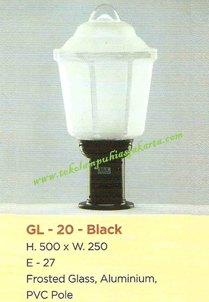 Lampu Taman GL-20-Black