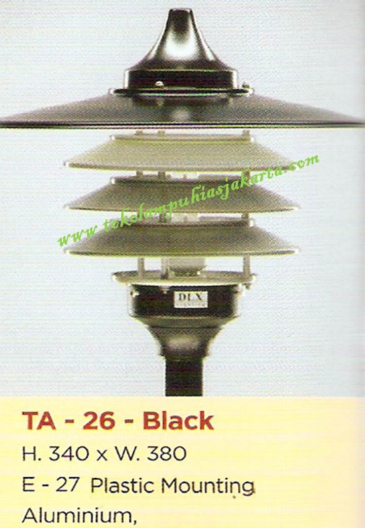 Lampu Taman TA-26-Black