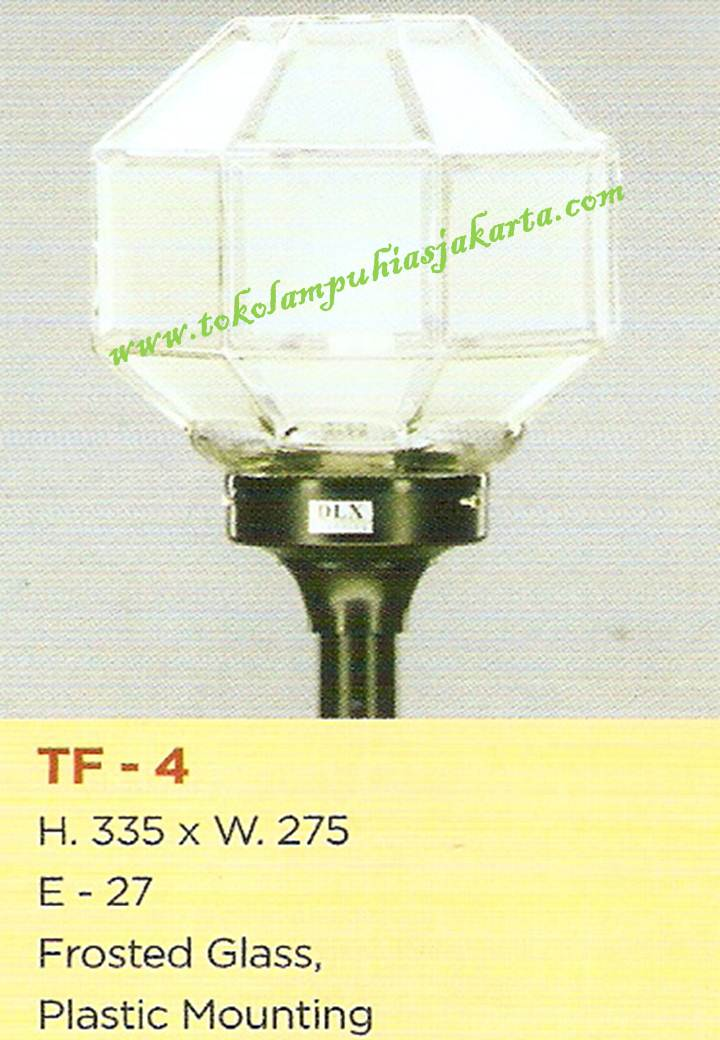 Lampu Taman TF-4 Frosted Glass