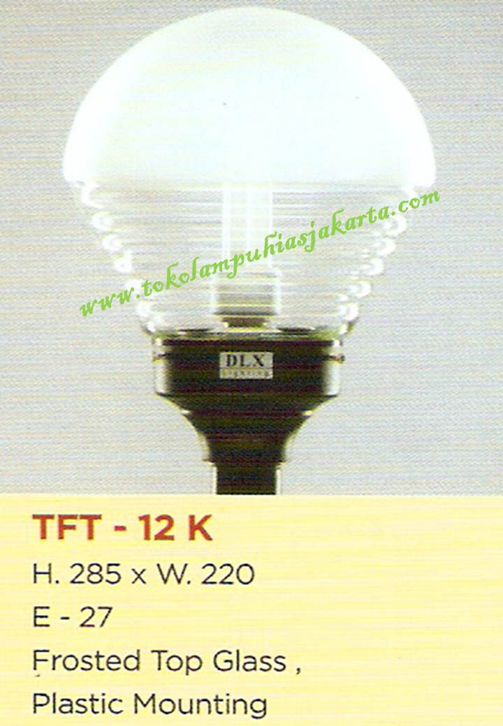 Lampu Taman TFT-12-K Frosted Glass