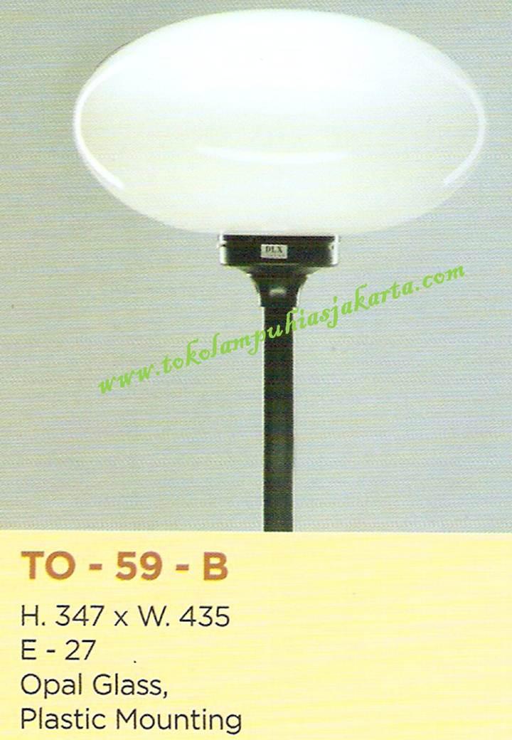 Lampu Taman TO-59 Opal Glass