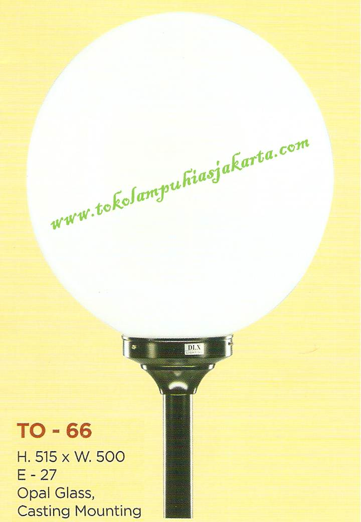 Lampu Taman TO-661 Opal Glass