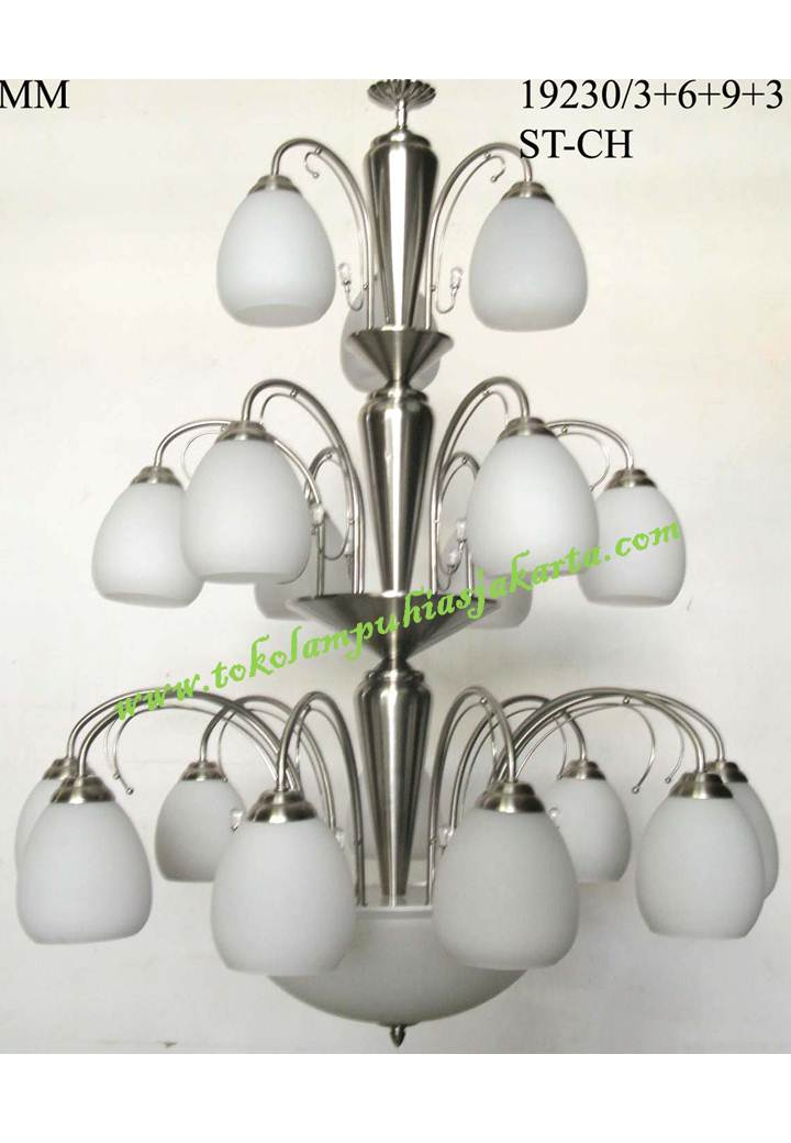 Lampu Gantung Kaca Tiga Susun ST-CH 19230