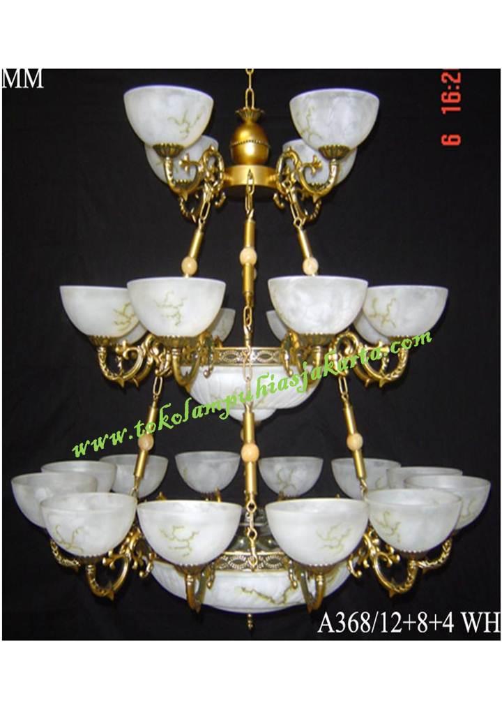 Lampu Gantung Kaca Tiga Susun WH A368