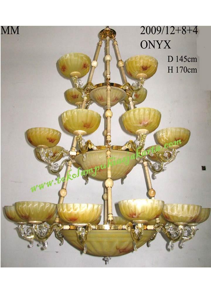 Lampu gantung kaca tiga susun Onyx 2009
