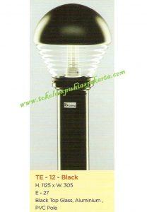 Lampu Buat Taman TE-12 Black
