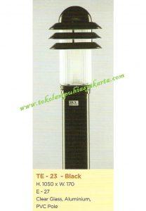 Lampu Buat Taman TE-23 Black