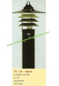Lampu Buat Taman TE-26 Black