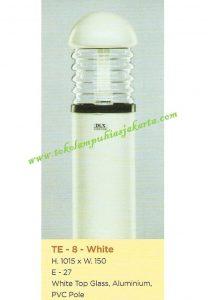 Lampu Buat Taman TE-8 White