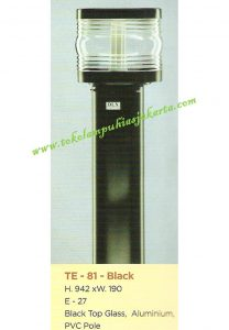 Lampu Buat Taman TE-81 Black