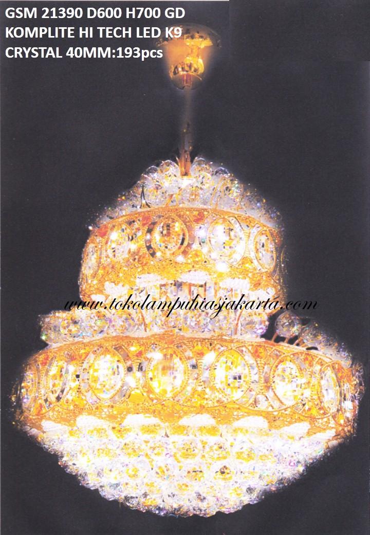 Lampu Crystal GSM HI Tech LED K9 21390-600