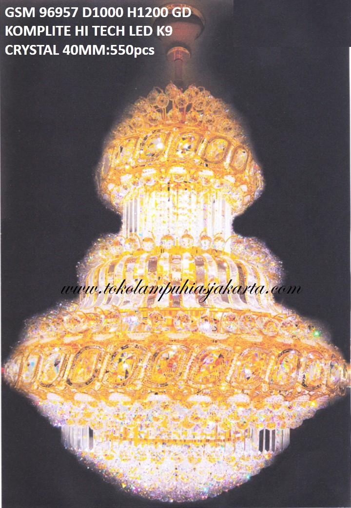 Lampu Crystal GSM HI Tech LED K9 95957-1000