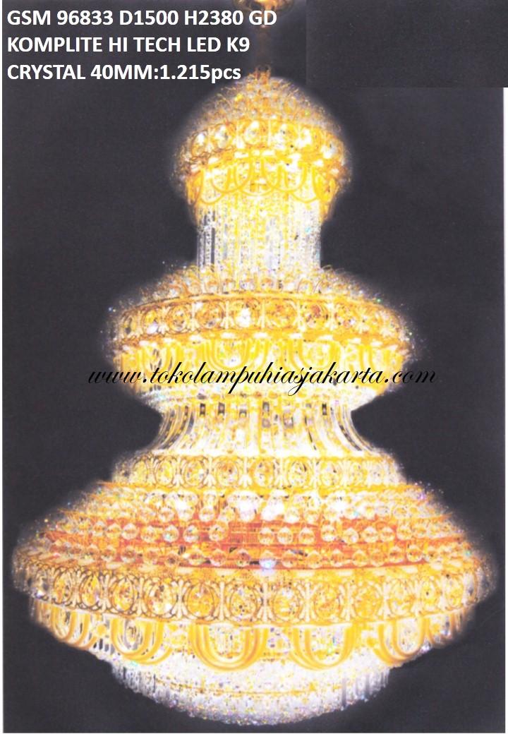 Lampu Crystal GSM HI Tech LED K9 96833-1500
