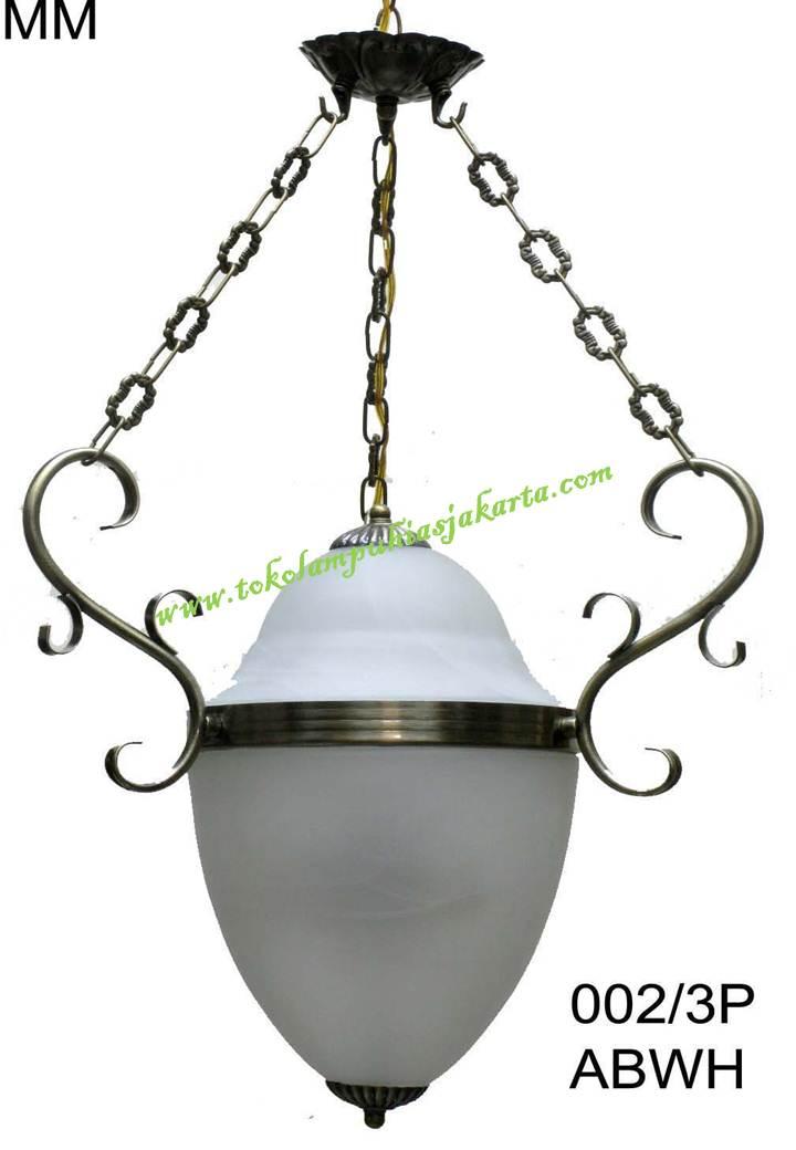 Lampu Antik Engkel 002-3P ABWH