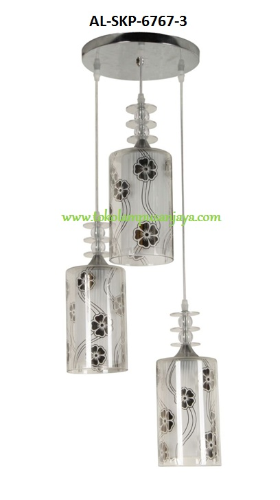 Jual lampu gantung plafon cabang 3 tipe AL-SKP-6767-3