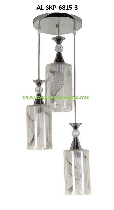 Jual lampu plafon cabang 3 tipe AL-SKP-6815-3