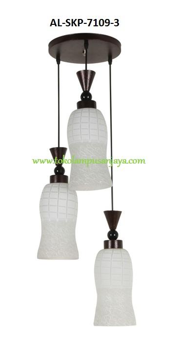 Jual lampu plafon cabang 3 tipe AL-SKP-7109-3