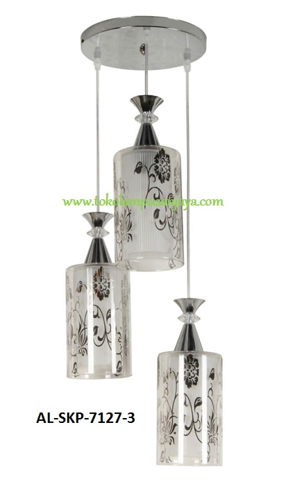 Jual lampu plafon cabang 3 tipe AL-SKP-7127-3