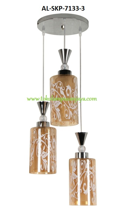 Jual lampu plafon cabang 3 tipe AL-SKP-7133-3