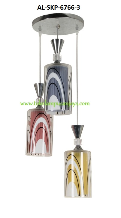 Jual lampu gantung plafon cabang 3 tipe AL-SKP-6766-3